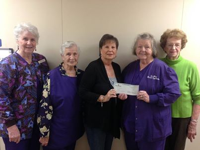 LEC Volunteers donate to the Rainbow Room